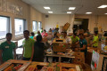 Disciples from the Rochester, NY Mandal volunteers at the Food Bank of the Southern Tier