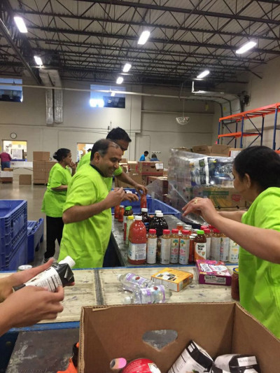 Disciples from Ohio Mandal volunteered 44 hours at the Greater Cleveland Food Bank in Cleveland, Ohio