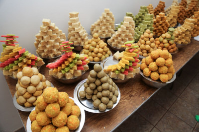 An assortment of sweets is prepared to offer Lord Shree Swaminarayanbapa Swamibapa in celebration of  Diwali and the Hindu New Year