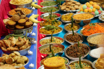 An array of foods was prepared for this auspicious day welcoming the New Year