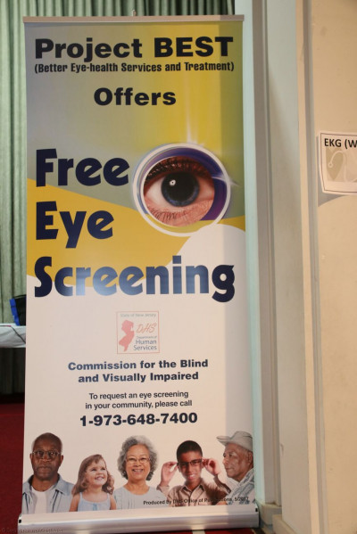 Complete vision examinations were provided to all patients by Project BEST