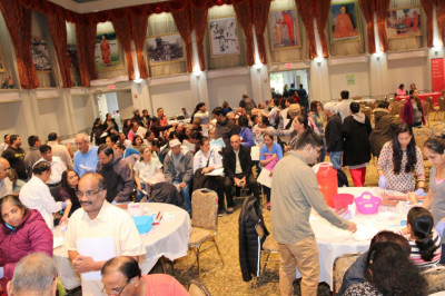 Hundreds of patients received complimentary health screenings in Shree Muktajeevan Swamibapa Community Hall in Secaucus Temple
