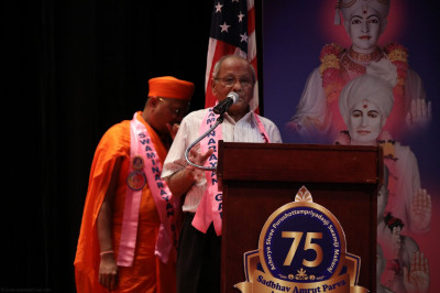 A leading committee member shares a few words in praise of Acharya Swamishree for everything He has done for the disciples of North America