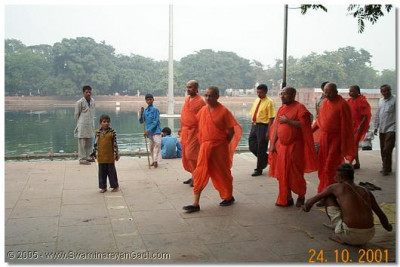 An ascetic sage has the darshan of HDH Acharya Swamishree