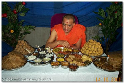 The Thaal prepared for HDH Acharya Swamishree on this special day