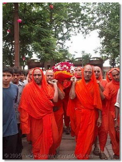 Anteem darshan of Sadguru Shree Bhaktavatsaldasji Swami