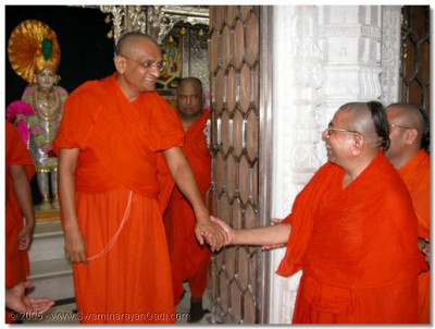 HDH Acharya Swamishree and Sadguru Shree Bhaktavatsaldasji Swami
