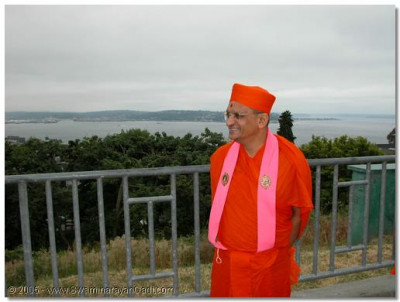HDH Acharya Swamishree giving darshan in Seattle