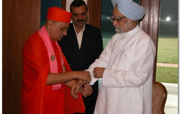 Acharya Swamishree meets with the Prime Minister of India