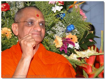 Darshan of Acharya Swamishree during raas