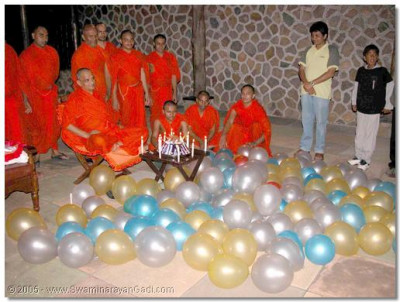 A celebration is held by the devotees of Uganda, to thank Acharya Swamishree for visiting their home