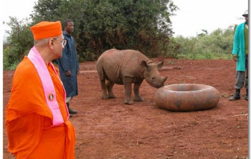 Acharya Swamishree's Visit to Nairobi National Park