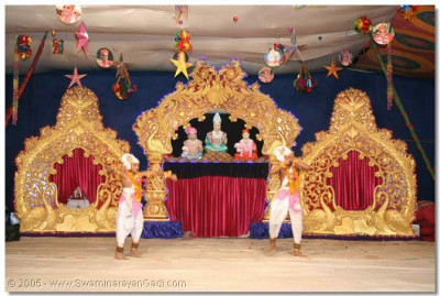Parshads perform a devotional dance