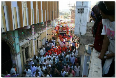 A procession was held in the town of Soja