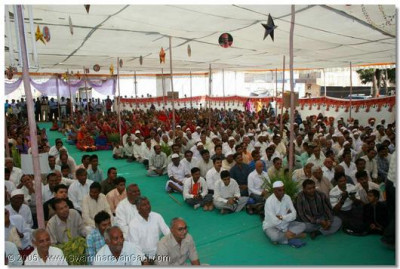 Devotees from all over the vicinity gathered for the event