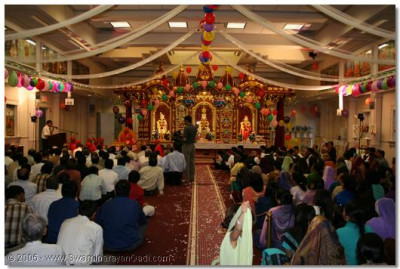 Devotees from all over the USA had gathered for this special occasion