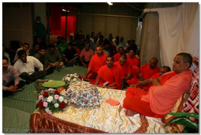 1st June 2005. The evening sabha at Glen Mills, PA