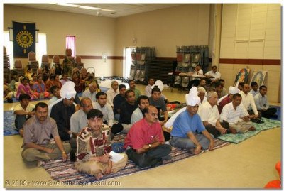 Devotees of Detroit are pleased to have the darshan of Acharya Swamishree and the sants