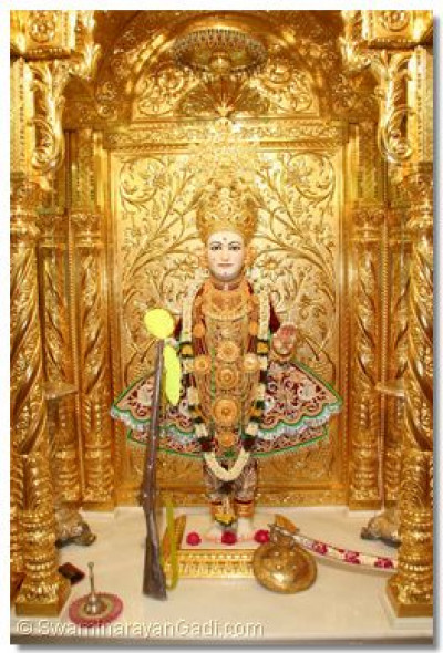 Divine darshan of Lord Swaminarayan, Shree Ghanshyam Maharaj, on Swamibapa Jayanti