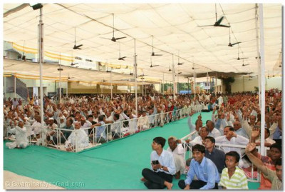 Devotees from all over the world had gathered for this special occasion