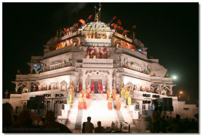 The young dancers perform from all four levels of the Smruti Mandir