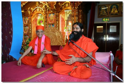 Swami Ramdevji speaks of his honour and delight of having had the divine darshan of Acharya Swamishree