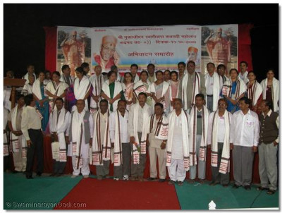 The newly elected councillors of Varodara city