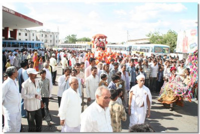 A procession is held from the centre of Botad