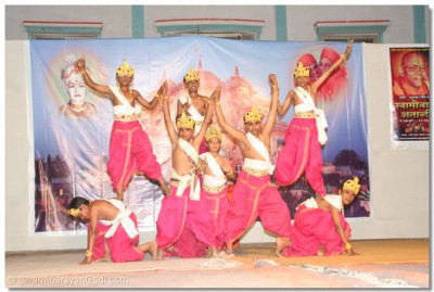 Young disciples of Botad perform a devotional dance