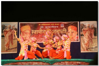 A devotional dance performance given by sants
