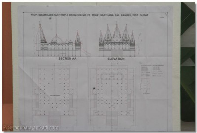 Plans of the grand new Shree Swaminarayan Temple in Surat