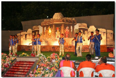 During the evening, young boys of Varodara perform a dance during the concert
