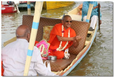 The water of Lake Nakki is sanctified by the divine touch of Acharya Swamishree