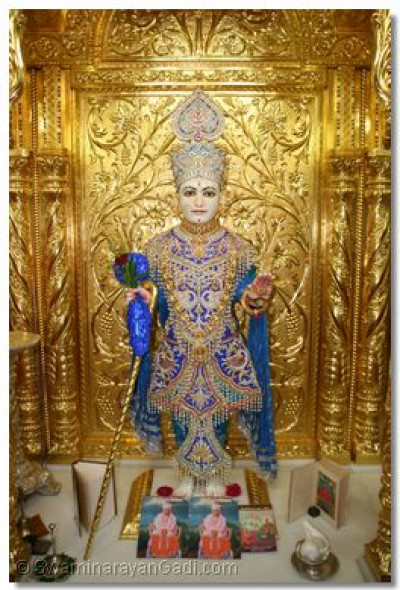 Lord Swaminarayan – Shree Ghanshyam Maharaj at the time of the Shanghar aarti