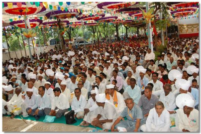 Disciples from all over the Panchmahal region were present during the 3 day festival