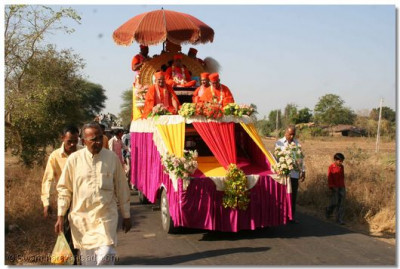 Another procession was held on the second day