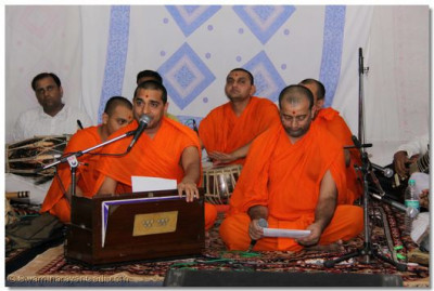 Sants and artists perform devotional music and religious songs