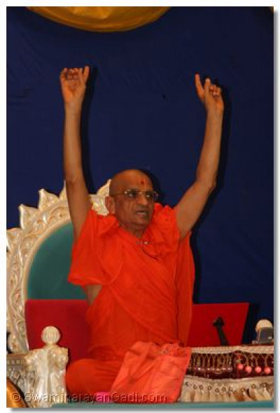 Acharya Swamishree concludes His divine blessings