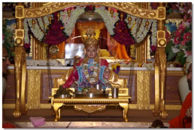 Divine darshan of the Lord sitted on a swing
