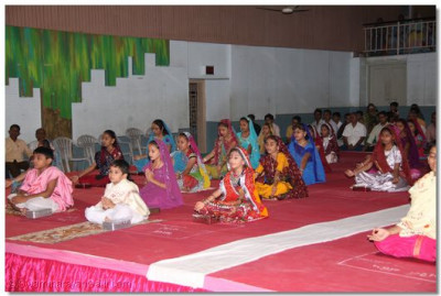 Students perform dhyan
