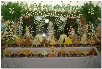 Annkut darshan at Shree Swaminarayan Temple Varodara