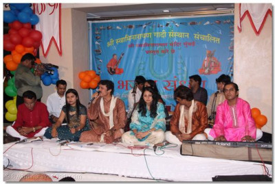 Sanjay Omkar and colleages perform during Bhakti Sandhya event during the evening of 5th June