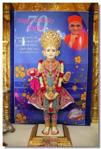 Shangar darshan at Shree Swaminarayan Temple Maninagar