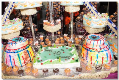 Some of the cakes on display