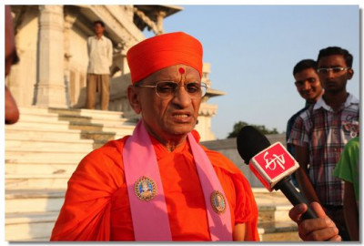 Acharya Swamishree gives an interview
