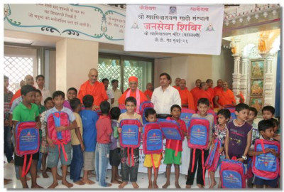 Over 250 bags were distributed
