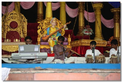 Musicians from Dhvani School of Music in performance