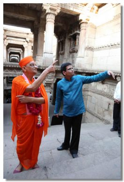 Acharya Swamishree asks about some of the carvings