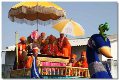 A ceremonial welcome for Acharya Swamishree