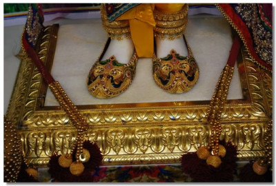 Divine darshan of Lord's lotus feet
